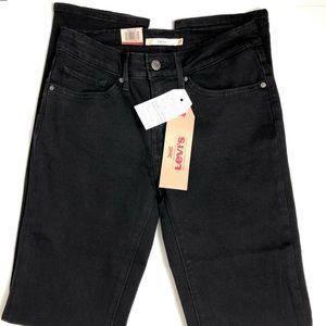 Levi's 712 Slim Black Jeans 26X32